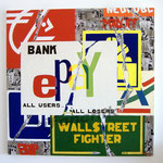 "77 ""E PAY"" acrylique et collage/toile 100x100cm 2008 1200€"