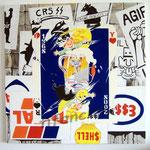 """70 """"1968/2008"""" acrylique/toile  100x100 cm 2008 1200€"""