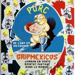 """73 """"Gripmexicos"""" acrylique et collage/toile 100x80cm 2009 900€"""