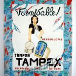 """74 """"Tampex"""" acrylique et collage/toile 100x80cm 2009 900€"""