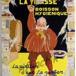 """37 """"La Vinasse"""" acrylique et collage/toile 80x60cm 2006 600€"""