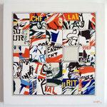 "97 ""TAQUIN de PUB"" acrylique/toile 50x50cm 2011  400€"