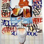 """66 """"La Capitaliste"""" acrylique/toile 160x100cm 2007 1800€"""