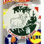"""83 """"La vache qui pleure"""" acrylique/toile 80x60cm 2009 600€"""