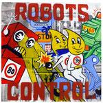 "0134 ""ROBOTS CONTROL"" 28x28cm 2018 250€"