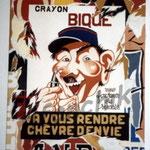 """29 """"Bique"""" acrylique/toile 80x6Ocm 2004 600€"""