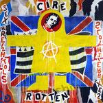 """0146 """"CIRE COTTEN"""" Acrylique/toile 100x100cm 2020 2000€"""