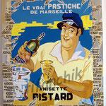 """53 """"Pistard"""" acrylique et collage/toile 100x80cm 2007 900€"""