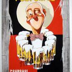 """98 """"Polygamie"""" acrylique/toile 90x60cm 2011  750€"""