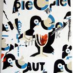 """81 Pie Colo 2"""" acrylique/toile 47x39cm 2009 450€"""