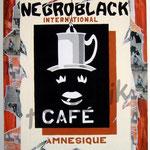 """49 """"Négroblack"""" acrylique et collage/toile 80x60cm 2007 600€"""