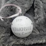Christbaumkugel, weiß, D:8cm, mein erstes Weihnachtfest