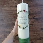 Hochzeitskerze Blütenkranz aus Wachs 0620