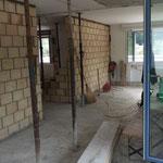 Trennwände neuer Saunabereich (ehem. Wohnung)