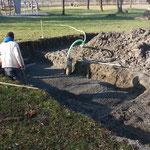 Aushub und Beton für Grundplatte