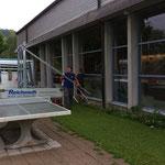 Abbrucharbeiten Fensterfront