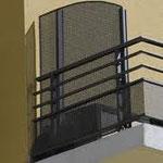 séparation de balcon vitrée + garde corps aluminium