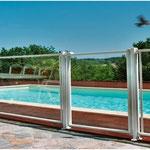 barrière de piscine vitrée (existe en barreaudé)