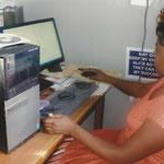 Sekretariat mit neuem Computer