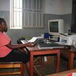 Sekretariat mit dem einzigen Computer