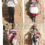 Aidswaisen aus der Primary school mit ihren Geschenken