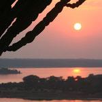 Sonnenuntergang über dem Kazinga Channel