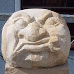 Steinkopf grimmig, Sandstein