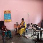 die Werkstatt, im Hintergrund ds Bild ist das Vater unser auf Hindi