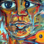 """""""Außer sich"""", Acryl auf Baumwolle, 50 cm x 70 cm, 2008"""