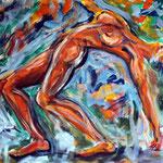 """Frühlingserwachen"", Acryl auf Baumwolle, 100 cm x 80 cm, 2010"
