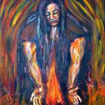 """""""Feuer des Lebens"""", Acryl auf Leinwand, 60 cm x 80 cm, 2015"""