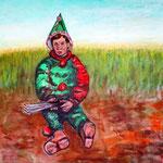 """Der kleine Harlekin"", Acryl auf Leinwand, 80 cm x 100 cm, 2014"