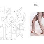 Fertige Schnittteile Hosenkonstruktion