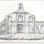 Façade Ouest, dessin Auguin 1840