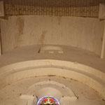 La nef, voutement à l'extrémité Est