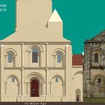 Eglise façade Ouest, comparaison