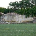 Restes du chevet du XIVe siècle, vue du Nord
