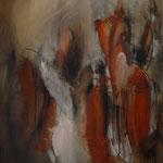 Esencia de Rojo. 131 x 90 cm. Óleo sobre tela. 2009.   Pinacoteca Eduardo Úrculo de Langore (Asturias)