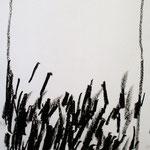 Carbón y ramas secas. 21 x 29 cm. Cera sobre papel. 2010