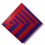 """Stripes #02""  50 x 50 cm. Acrílico sobre tela. 2018"