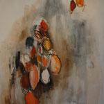El vendedor de Naranjas. 131 x 98 cm. Técnica mixta sobre tela. 2009.   Ayuntamiento de Mieres (Asturias)