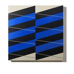 """Stripes #04""  70 x 70 cm. Acrílico sobre tela. 2018"