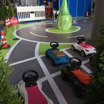 Messestand Indoorspielplatz / BobbyCar-Parcours