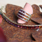 Precious stones joined to form a celestial rainbow