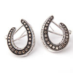 Chocolate diamond studded earrings