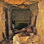Galerie creusée sous un champs de bataille de la 1ère guerre mondiale
