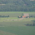 Grundstück mit Ovalbahn von Oben