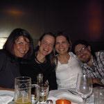 von links: Doris, ich, Brigitte, Rudi - Geburtstag 2012 - Foto Barbara Moser
