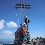 Flora und ich - Gipfelkreuz Schneeberg - NÖ 2011