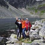 von links: Brigitte, Elisabeth, ich - Schladminger Tauern - Steiermark 2011